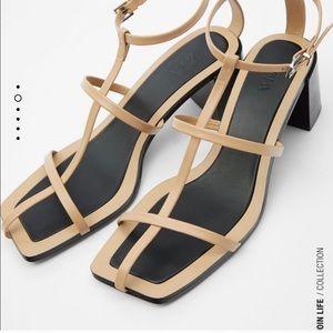 Zara cage sandal, blogger favorite!!